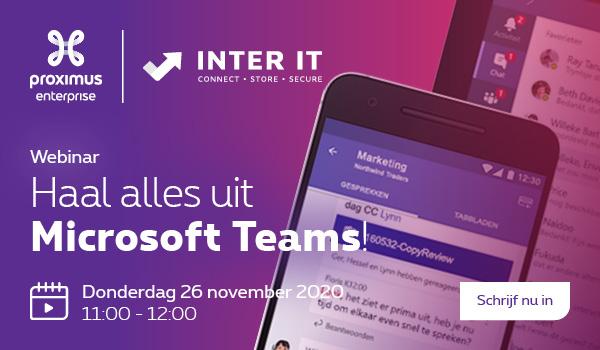 |WEBINAR| Haal alles uit Microsoft Teams (26 november)